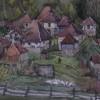 Старая деревня. Акварель.