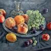 Натюрморт с персиками. Х., масло.