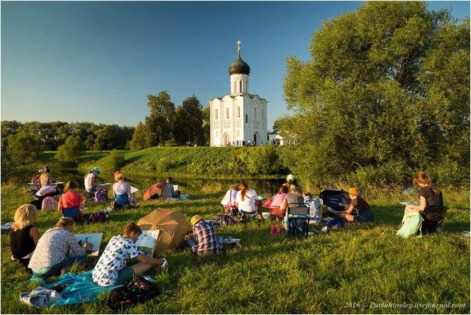 XVIII межнациональный пленэр юных художников на Владимиро-Суздальской земле